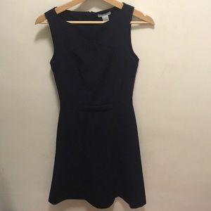 H&M a-line navy dress